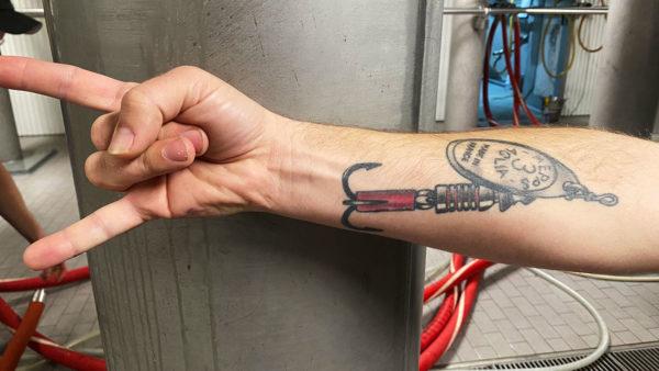 A Mepps Aglia tattoo